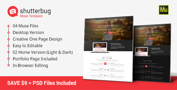 ThemeForest Shutterbug Muse Template 9835380