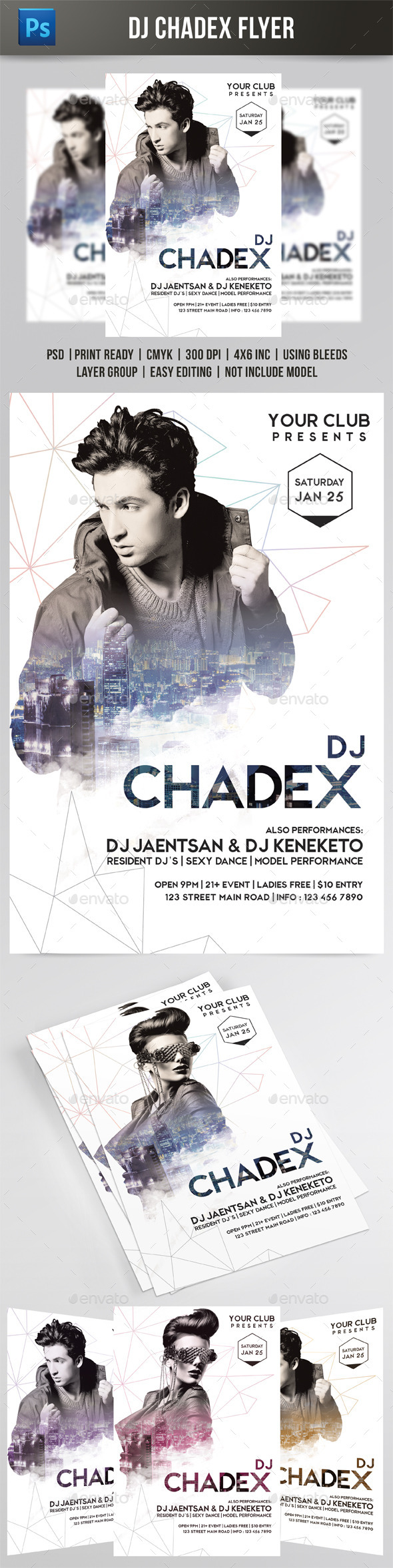 GraphicRiver DJ Chadex Flyer 9788994