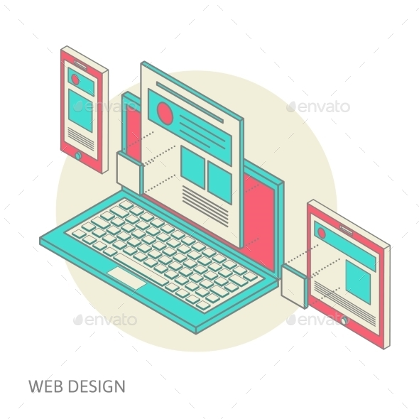 GraphicRiver Mobile and Desktop Website Development Process 9835486