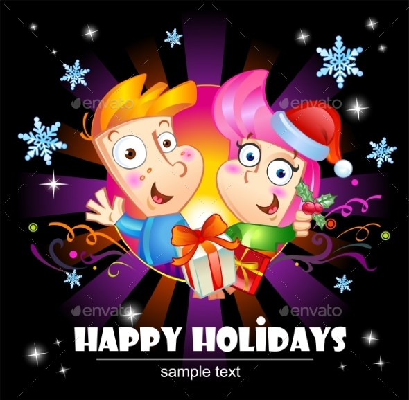 GraphicRiver Happy Holidays Greetings 9835485