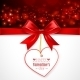 Red Bow with Heart - GraphicRiver Item for Sale