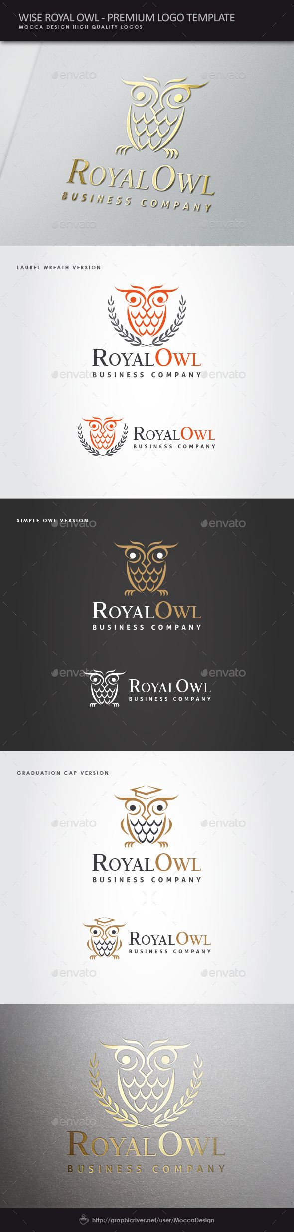 GraphicRiver Wise Royal Owl Logo 9835494