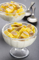 yogurt with mango and roasted almond sliver - PhotoDune Item for Sale