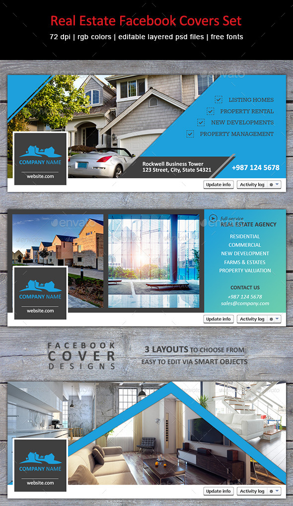 GraphicRiver Real Estate Facebook Covers Set 9835777