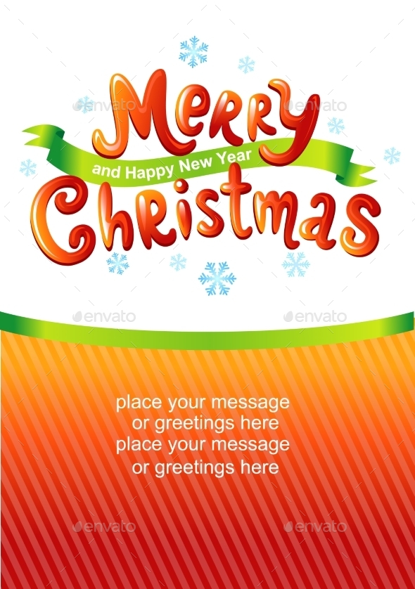 GraphicRiver Merry Christmas Glossy Inscriptions 9835830