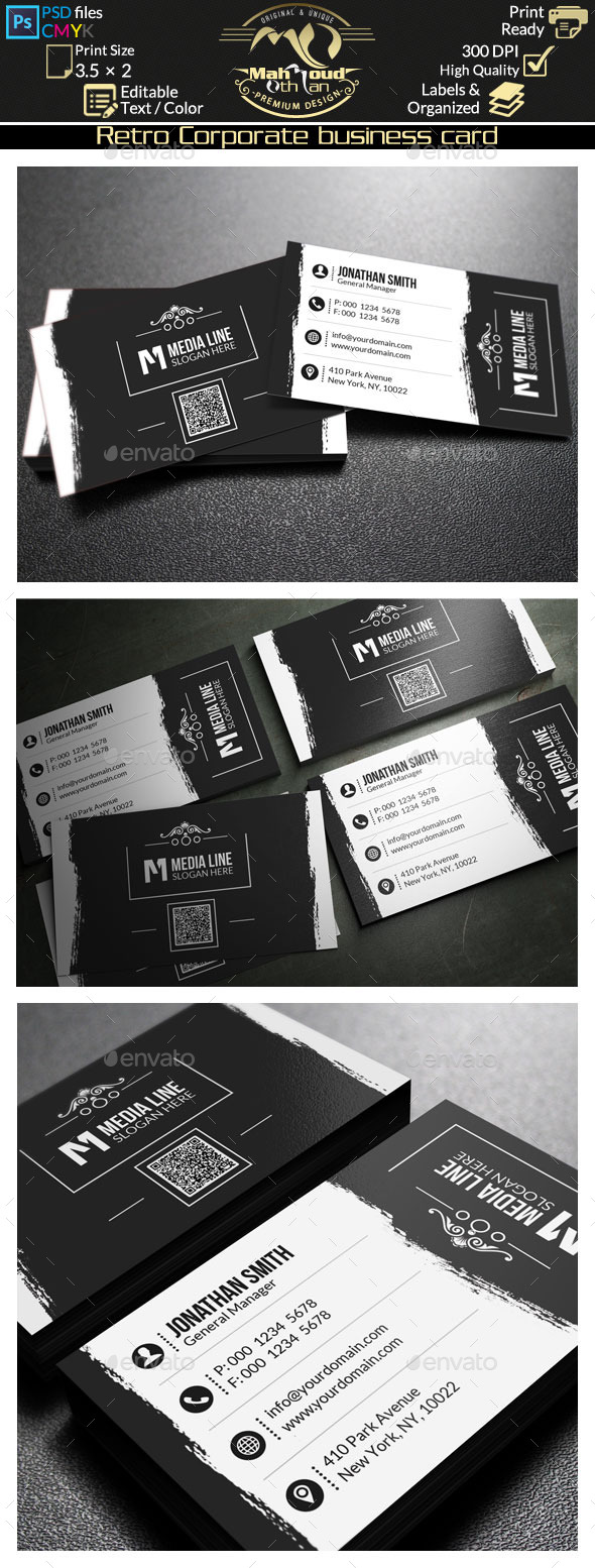 GraphicRiver Retro Business Card 66 9835930