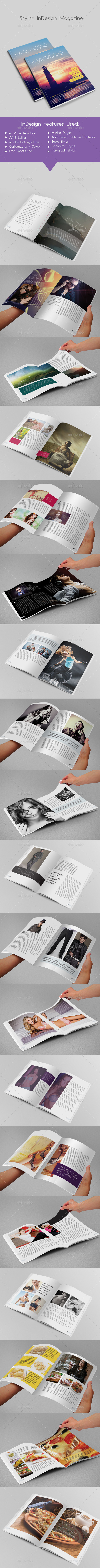 GraphicRiver Stylish InDesign Magazine 40 Pages 9798287