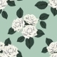 Classic Vintage Seamless Pattern with White Roses - GraphicRiver Item for Sale