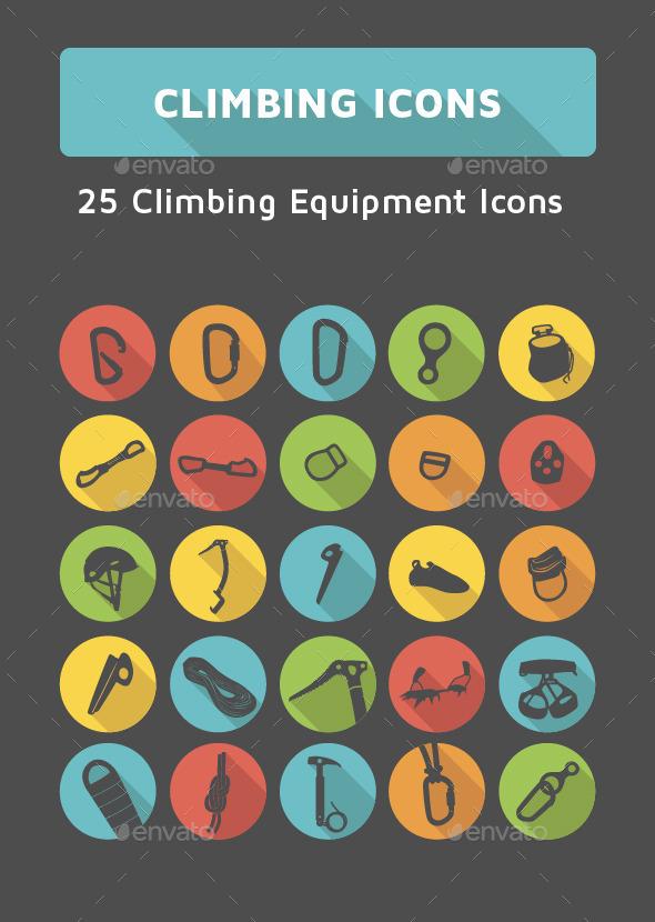 GraphicRiver Climbing Icons Set 9835984