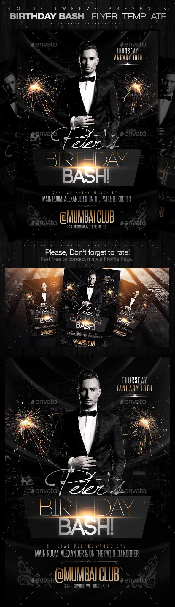 GraphicRiver Birthday Bash Flyer Template 9836021