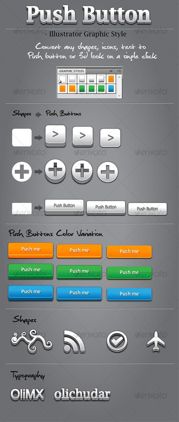 GraphicRiver 10 Push Button Graphic Style 123927