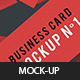 Business Card Mockup N1 - GraphicRiver Item for Sale
