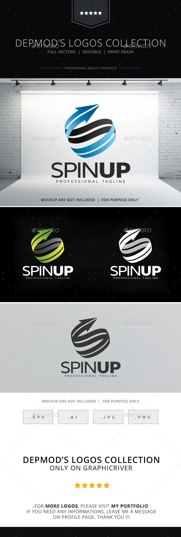 GraphicRiver Spin Up Logo 9836512