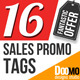 16 Sales Promo Tags - VideoHive Item for Sale