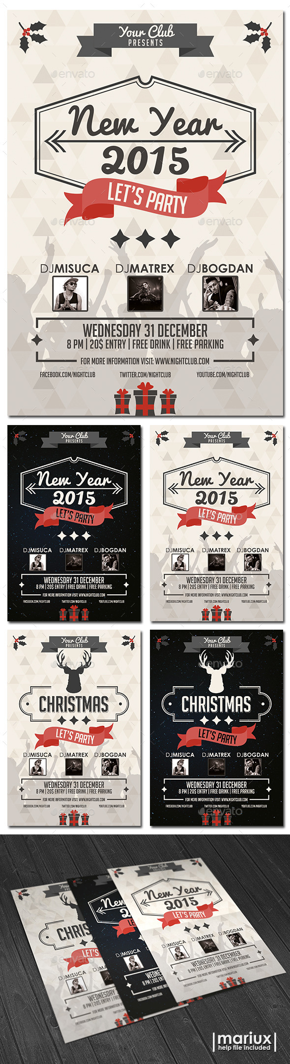 GraphicRiver Christmas and New Year Flyer 9802458