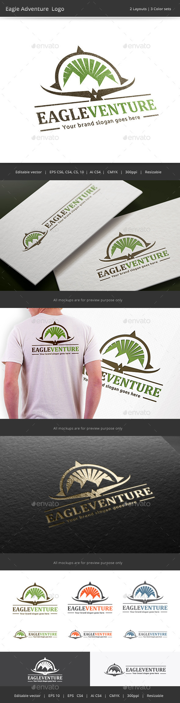 GraphicRiver Eagle Adventure Logo 9837570
