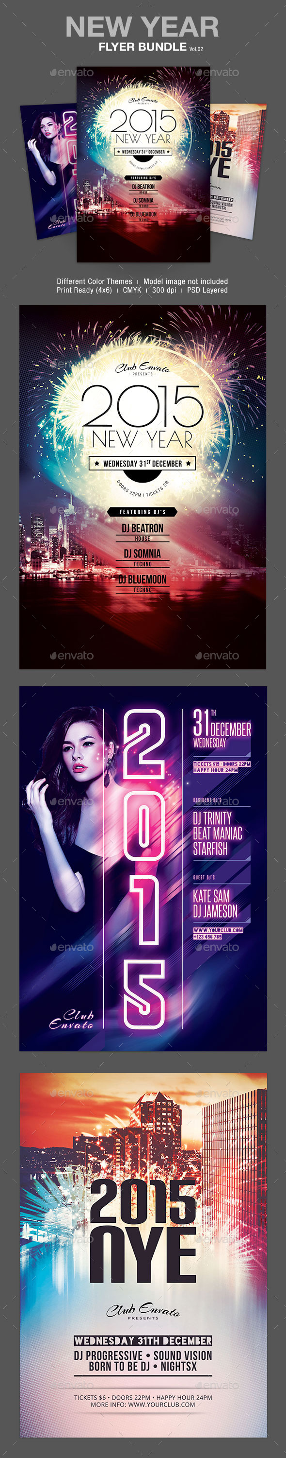GraphicRiver New Year Flyer Bundle Vol.02 9837900