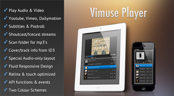 Vimuse HTML5 Media Player