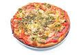Delicious italian pizza isolate on white  - PhotoDune Item for Sale