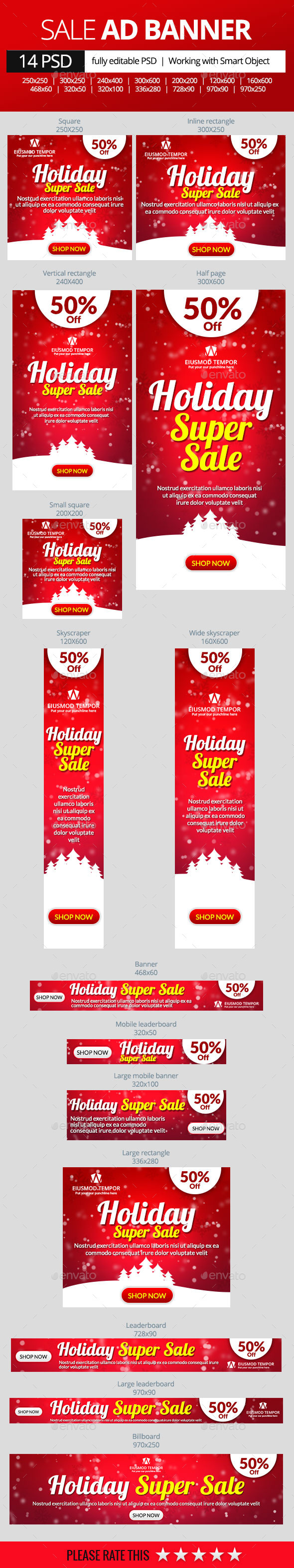 GraphicRiver Holiday Super Sale Banners 9838707