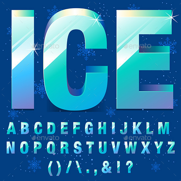 GraphicRiver Ice Letters 9798874