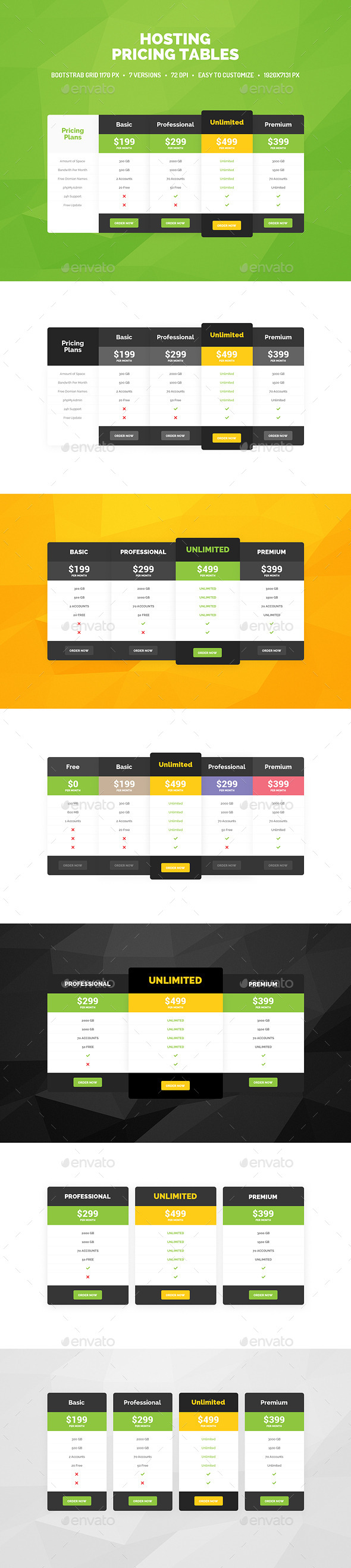 GraphicRiver Pricing Tables 9838737