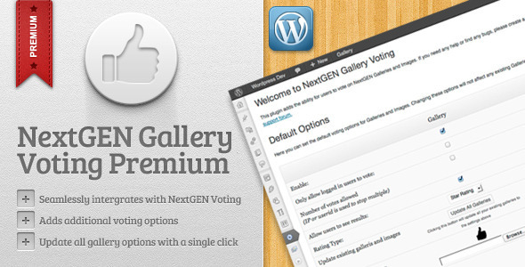 NextGEN Gallery Voting Premium - CodeCanyon Item for Sale