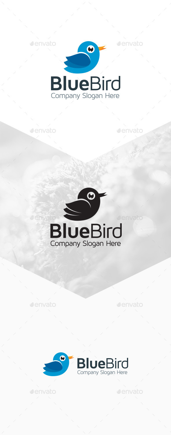 GraphicRiver Blue Bird Logo 9801624