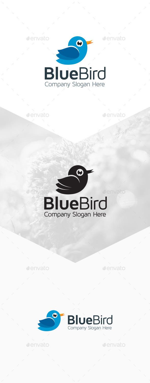 GraphicRiver Blue Bird Logo 9801624