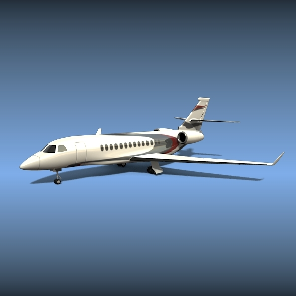 Dassault falcon 5x business jet - 3DOcean Item for Sale