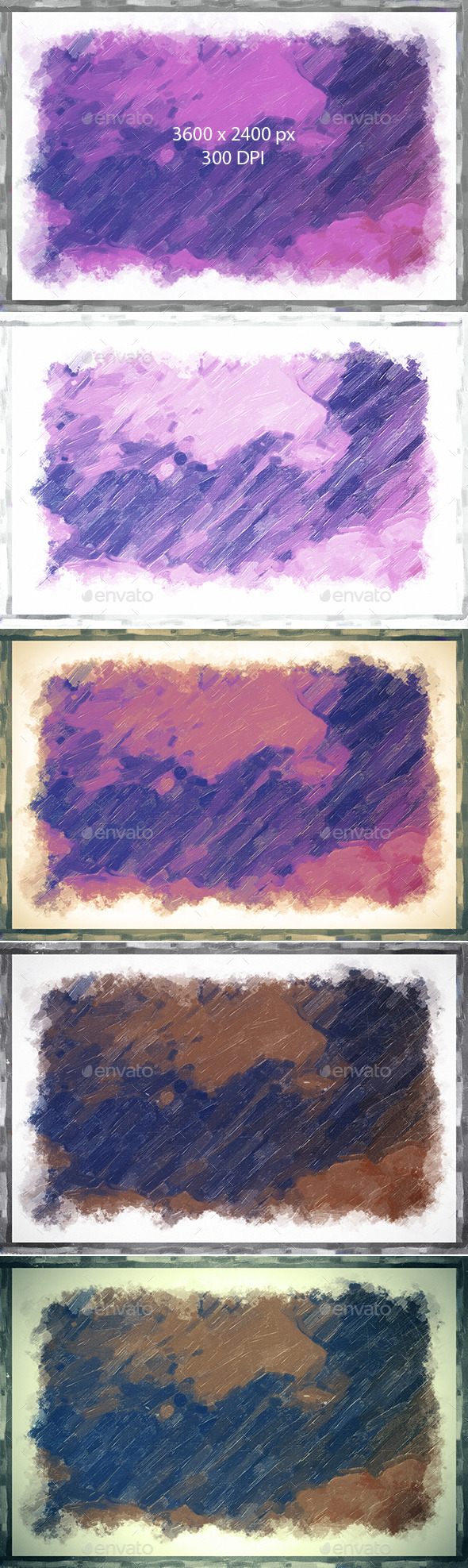 GraphicRiver Oil Painting Frame Backgrounds 9839192