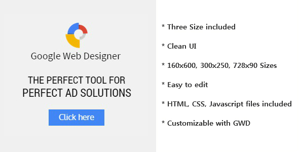 CodeCanyon GWD Ad Banner with HTML5 9839378