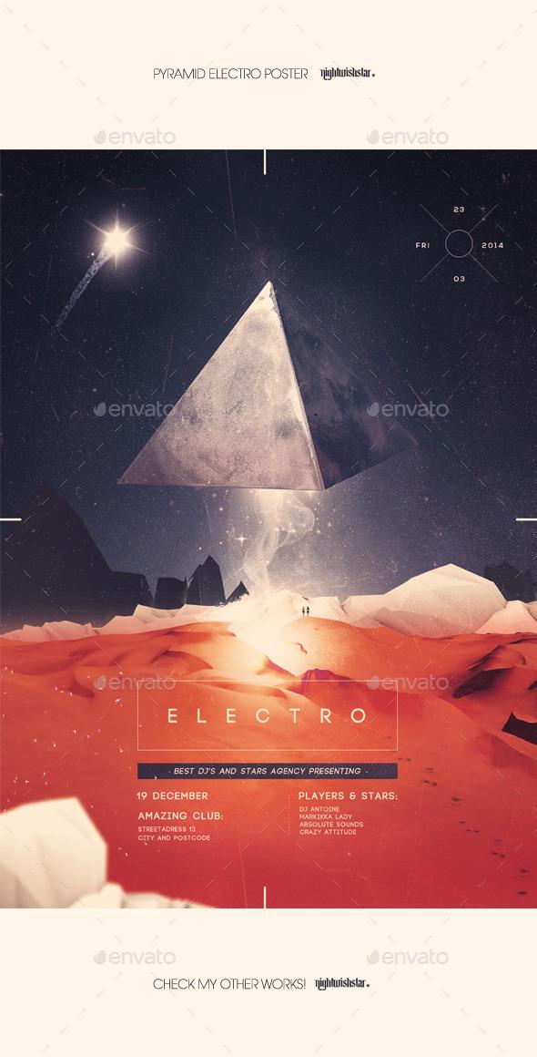 GraphicRiver Pyramid Electro Poster 9839486