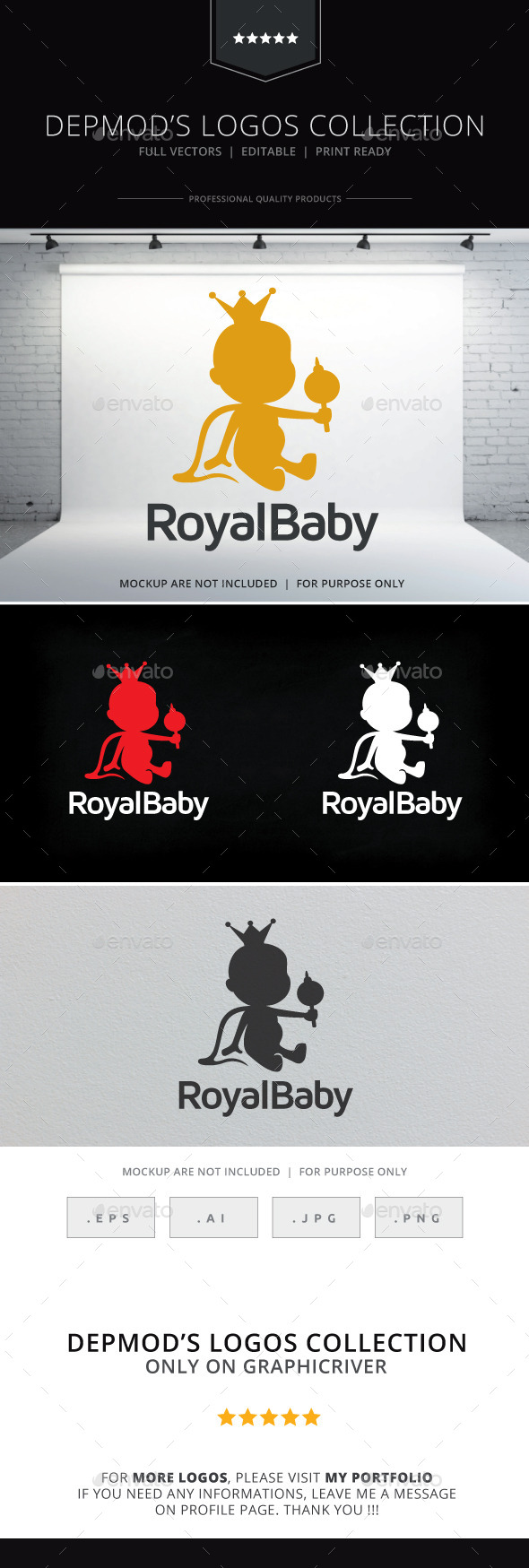 GraphicRiver Royal Baby Logo 9839571