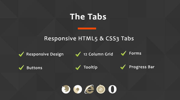 CodeCanyon The Tabs Responsive HTML5 & CSS3 Tabs 9789440
