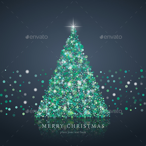 GraphicRiver Christmas Tree From Light Background 9839669