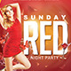Flyer Sunday Red Party - GraphicRiver Item for Sale