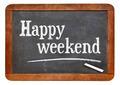 happy weekend on blackboard - PhotoDune Item for Sale