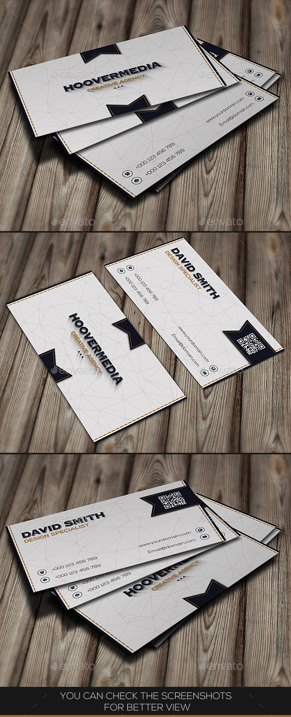 White Classy Business Card