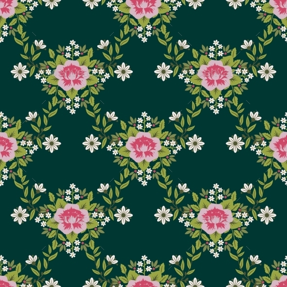 GraphicRiver Floral Pattern 9839956