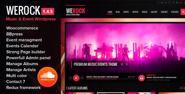 WeRock Multipurpose Music & Event Wordpress Theme - Entertainment WordPress