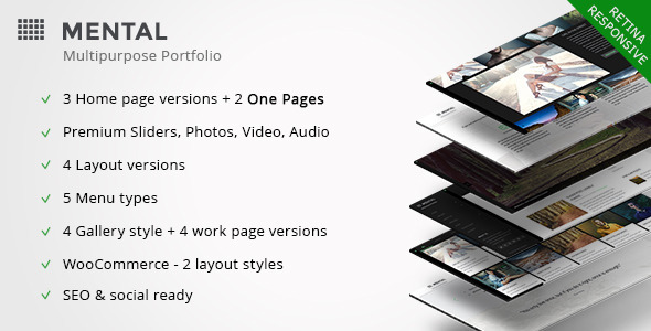 ThemeForest Mental Creative Portfolio for Freelancer & Agency 9696295
