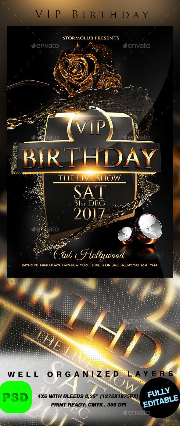 GraphicRiver VIP Birthday 9840033