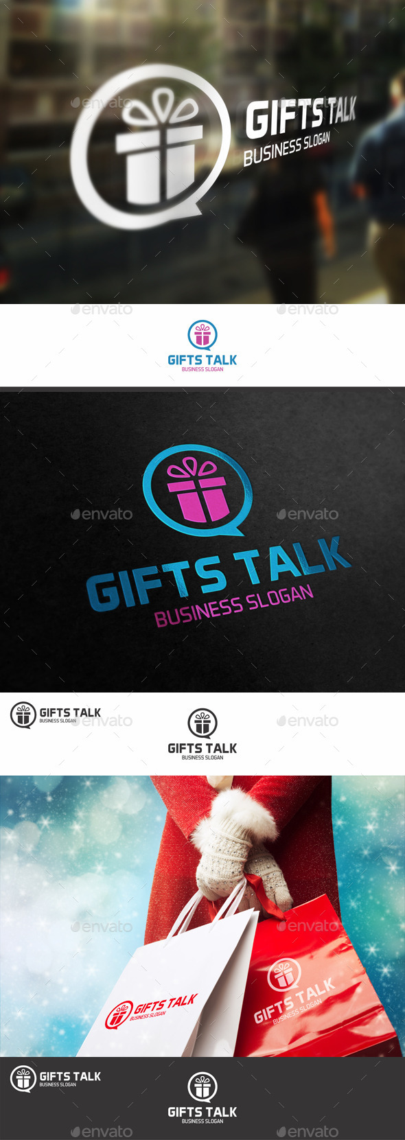 GraphicRiver Talk About Gifts Logo 9840127