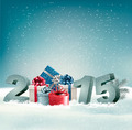 Holiday background with presents and 2015.  - PhotoDune Item for Sale