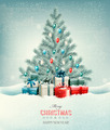 Christmas tree with presents background.  - PhotoDune Item for Sale