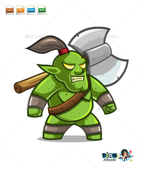 GraphicRiver Orc Warrior 9807461