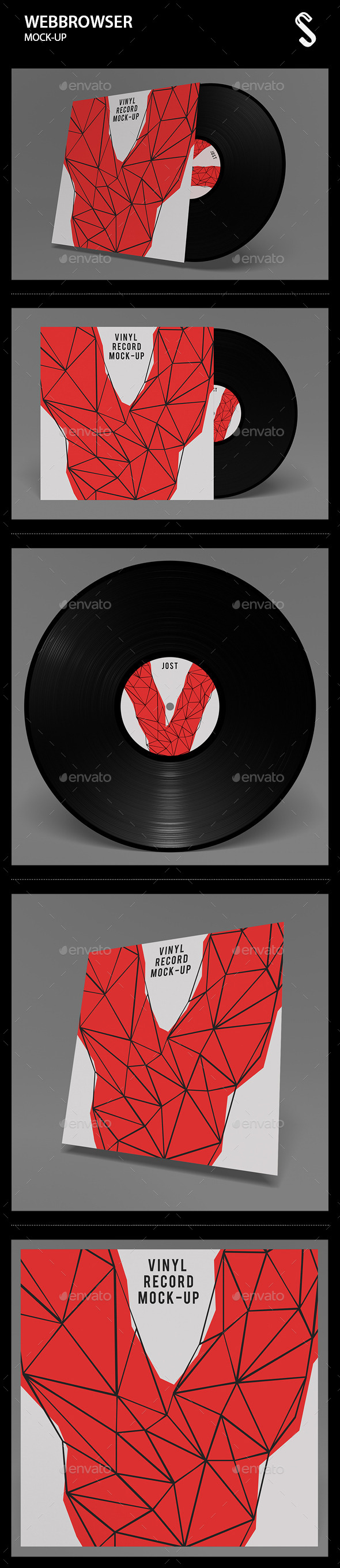 GraphicRiver Vinyl Record Mockups 9840312