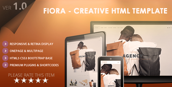 ThemeForest Fiora Multipage & Onepage HTML5 Website Template 9840314