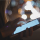 Woman Using Touchpad at Night - VideoHive Item for Sale